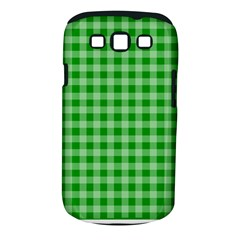 Gingham Background Fabric Texture Samsung Galaxy S Iii Classic Hardshell Case (pc+silicone)