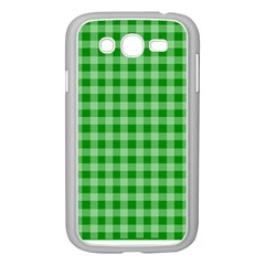 Gingham Background Fabric Texture Samsung Galaxy Grand Duos I9082 Case (white)