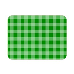 Gingham Background Fabric Texture Double Sided Flano Blanket (mini)  by Nexatart