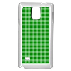 Gingham Background Fabric Texture Samsung Galaxy Note 4 Case (white)