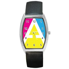 Graphic Design Web Design Barrel Style Metal Watch