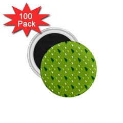 Green Christmas Tree Background 1 75  Magnets (100 Pack)  by Nexatart