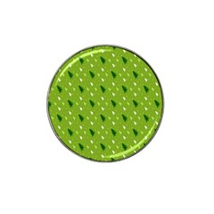 Green Christmas Tree Background Hat Clip Ball Marker (4 Pack) by Nexatart