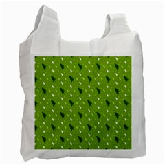 Green Christmas Tree Background Recycle Bag (one Side) by Nexatart