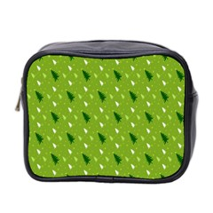 Green Christmas Tree Background Mini Toiletries Bag 2 Side by Nexatart