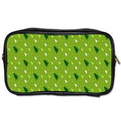 Green Christmas Tree Background Toiletries Bags by Nexatart