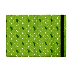 Green Christmas Tree Background Apple Ipad Mini Flip Case by Nexatart