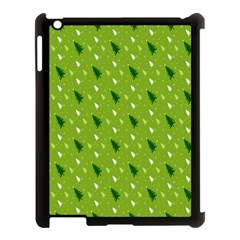 Green Christmas Tree Background Apple Ipad 3/4 Case (black)