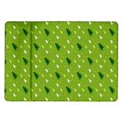 Green Christmas Tree Background Samsung Galaxy Tab 10 1  P7500 Flip Case