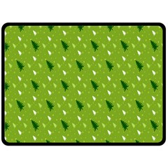 Green Christmas Tree Background Double Sided Fleece Blanket (large)  by Nexatart