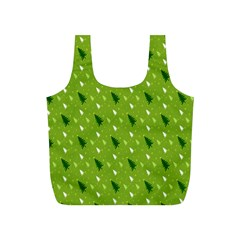 Green Christmas Tree Background Full Print Recycle Bags (s)