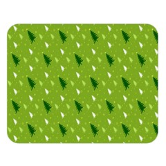 Green Christmas Tree Background Double Sided Flano Blanket (large)  by Nexatart