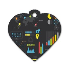 Graphic Table Symbol Vector Chart Dog Tag Heart (two Sides)