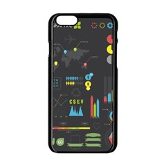Graphic Table Symbol Vector Chart Apple Iphone 6/6s Black Enamel Case