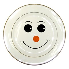 Happy Face With Orange Nose Vector File Porcelain Plates