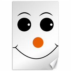 Happy Face With Orange Nose Vector File Canvas 24  X 36