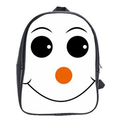Happy Face With Orange Nose Vector File School Bags(large)