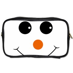 Happy Face With Orange Nose Vector File Toiletries Bags