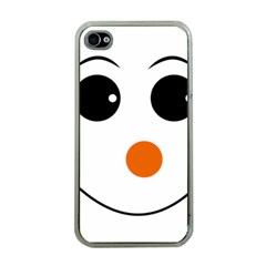 Happy Face With Orange Nose Vector File Apple iPhone 4 Case (Clear)