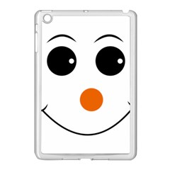 Happy Face With Orange Nose Vector File Apple Ipad Mini Case (white) by Nexatart