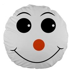 Happy Face With Orange Nose Vector File Large 18  Premium Round Cushions
