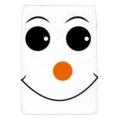 Happy Face With Orange Nose Vector File Flap Covers (s)