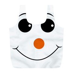 Happy Face With Orange Nose Vector File Full Print Recycle Bags (l)