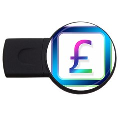 Icon Pound Money Currency Symbols Usb Flash Drive Round (2 Gb)