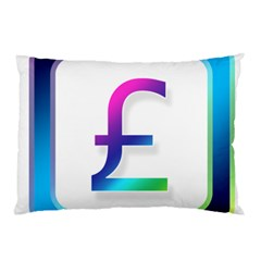 Icon Pound Money Currency Symbols Pillow Case by Nexatart