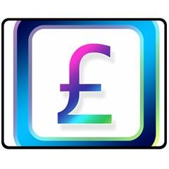 Icon Pound Money Currency Symbols Double Sided Fleece Blanket (medium)
