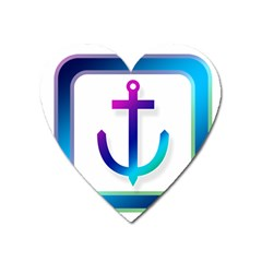 Icon Anchor Containing Fixing Heart Magnet