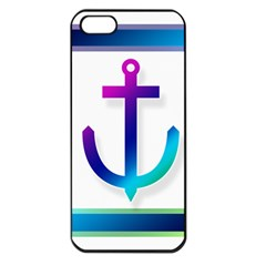 Icon Anchor Containing Fixing Apple Iphone 5 Seamless Case (black) by Nexatart