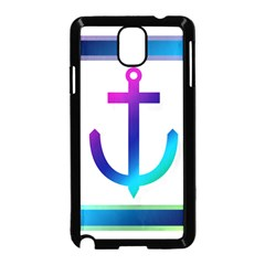 Icon Anchor Containing Fixing Samsung Galaxy Note 3 Neo Hardshell Case (black)