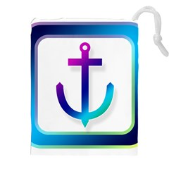 Icon Anchor Containing Fixing Drawstring Pouches (xxl) by Nexatart