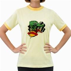 Monster Women s Fitted Ringer T Shirts