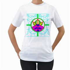 Pattern Template Stained Glass Women s T Shirt (white)