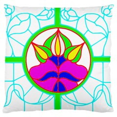 Pattern Template Stained Glass Large Flano Cushion Case (one Side)