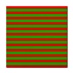 Pattern Lines Red Green Tile Coasters