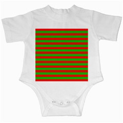 Pattern Lines Red Green Infant Creepers