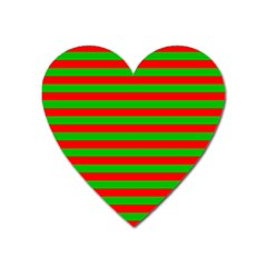 Pattern Lines Red Green Heart Magnet