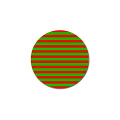 Pattern Lines Red Green Golf Ball Marker (10 Pack)