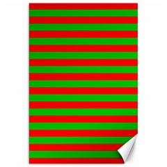 Pattern Lines Red Green Canvas 20  X 30