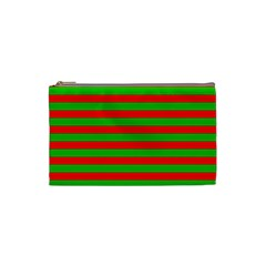 Pattern Lines Red Green Cosmetic Bag (small)