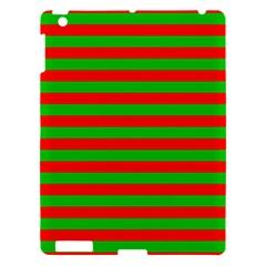 Pattern Lines Red Green Apple Ipad 3/4 Hardshell Case