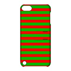 Pattern Lines Red Green Apple Ipod Touch 5 Hardshell Case With Stand by Nexatart
