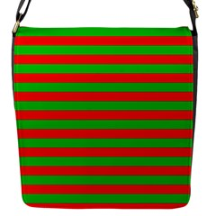 Pattern Lines Red Green Flap Messenger Bag (s)