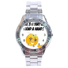 Take A Stand! Stainless Steel Analogue Watch by athenastemple