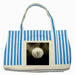 Starry Sky Striped Blue Tote Bag by theunrulyartist