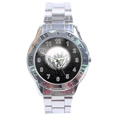 Starry Sky Stainless Steel Analogue Watch by theunrulyartist