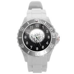 Starry Sky Round Plastic Sport Watch (l) by theunrulyartist